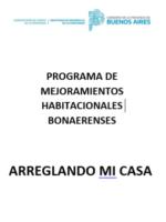PROGRAMA DE MEJORAMIENTOS – ARREGLANDO MI CASA