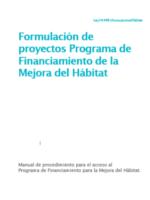 FORMULACIÓN DE PROYECTOS DE MEJORA DEL HÁBITAT