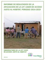 INFORME DE RESULTADOS DE LA APLICACIÓN DE LA LEY 14449 – Periodo 2014 -2019