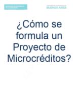 FORMULACIÓN DE PROYECTOS DE MICROCRÉDITOS